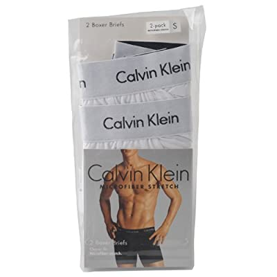 Calvin Klein Men's Two-Pack Microfiber Stretch Boxer Brief