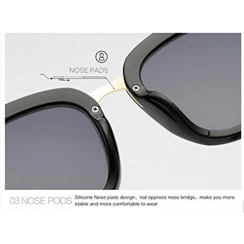 WANGMIN® Lunettes De Soleil Polarisées Femmes Marque Designer Alloy Temple Flat Lens Lunettes De Soleil Polarisées Vintage Uv400 , D
