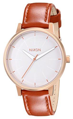Nixon Womens Kensington Leather Japanese quartz Leather watches Rose Gold / White A108