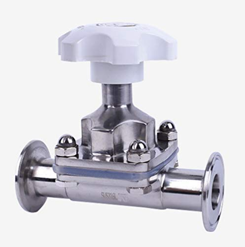 3/4'' Sanitary Tri-Clamp Φ22 OD 2'' Diaphragm Valve Silicone Stainless Steel 316L