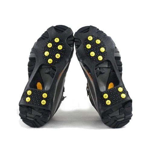 Yimidear Punte di scarpe Ghiaccio Neve terra antisdrucciolevole Ramponi Skating antiscivolo neve Grip Tacchetti