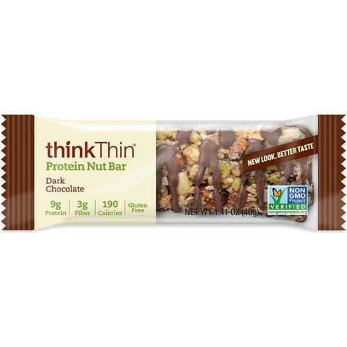 Think Thin Dark Chocolate Protein Nut Bar, 1.41 Ounce -- 120 per case. by thinkThin