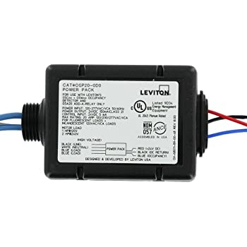 leviton power pack wiring diagram amazon.com: leviton osp15-r30 power pack for occupancy ... #7