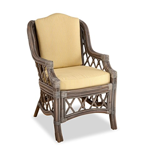 South Sea Rattan Nadine Dining Arm Chair in Willow Finish...