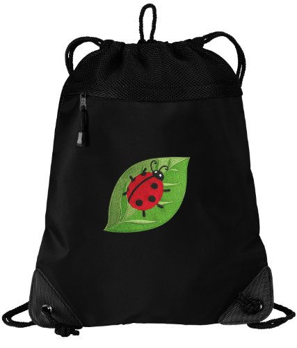- Ladybugs Drawstring Bag Ladybug Cinch Pack Backpack UNIQUE MESH & MICROFIBER