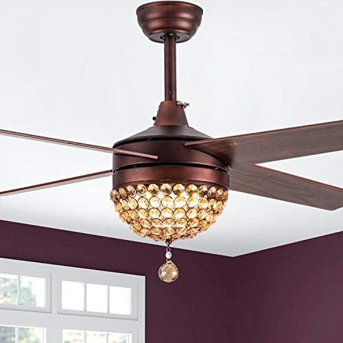 Bella Depot 52″ Modern Crystal Ceiling Fan