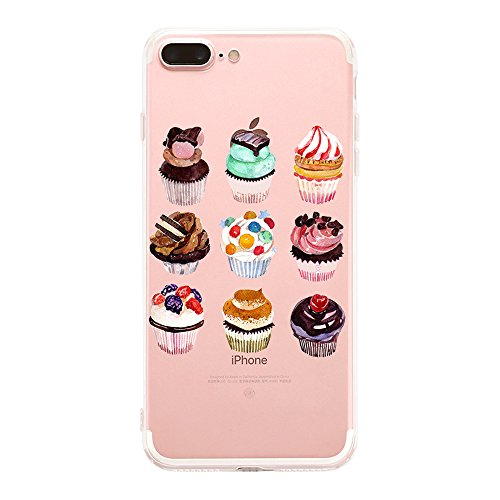Price comparison product image Beryerbi iPhone 7 Plus Clear TPU Soft Bumper Shock Absorption Scratch Resistant Slim Protective Cover For Apple 7 Plus (2, iPhone 7 Plus)