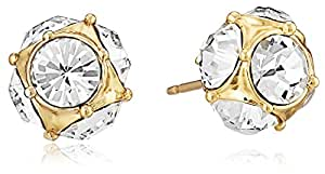 kate spade new york Lady Marmalade Gold-Tone Crystal Stud Earrings