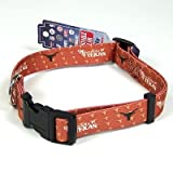 TEXAS LONGHORNS ADJUSTABLE NYLON DOG PET COLLAR! SZ L