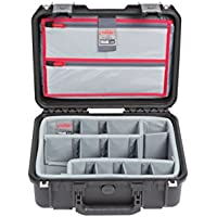 SKB Cases iSeries 1510-6 Case with Think Tank Dividers & Lid Organizer, Black (3i-1510-6DL)