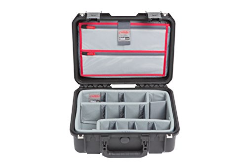 SKB Cases iSeries 1510-6 Case with Think Tank Dividers & Lid Organizer, Black (3i-1510-6DL) by SKB Cases