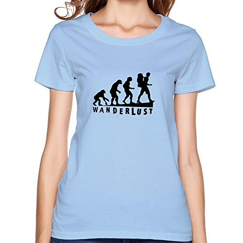 Making Women's Wanderlust Tee Shirts Small