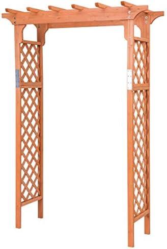 USA_BEST_SELLER Pérgola de jardín de Madera de 7 pies con Arco Alto para Patio al Aire Libre: Amazon.es: Jardín