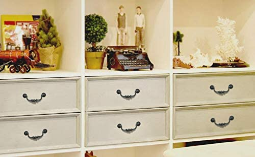 Retro Black Bronze Drop Bail Pull Knob and Plate Cabinet Pulls Vintage Drawer Pulls Drawer Knobs Dresser Pulls Cabinet Hardware W741