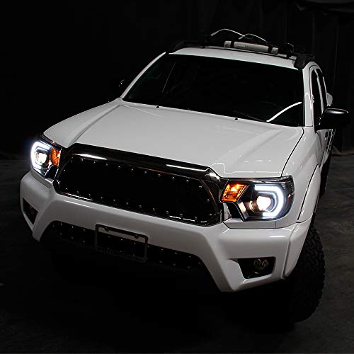Amazon.com: For [TRD PRO U-Bar] [Mono-Eye] 2012 2013 2014 2015 Toyota Tacoma LED DRL Projector Headlights Pair Sets: Automotive