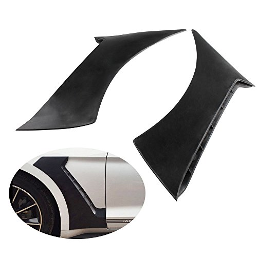 [Ruien Unpainted-ABS GT350 Style Front Side Fender Door Scoops For 15-17 Ford Mustang] (Ford Mustang Side Scoop)