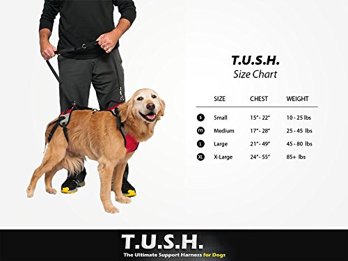 TopDog Health– The Ultimate Support Harness for Dogs (T.U.S.H) – XLarge - Helps Supports Older Dogs Struggling to Get Around or Dogs Recovering from Surgery – Created by a Veterinarian by TopDog Health (Image #1)