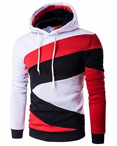 CIC Collection Men's Pullover Color Block Hoodies Sweatshirt Outwear