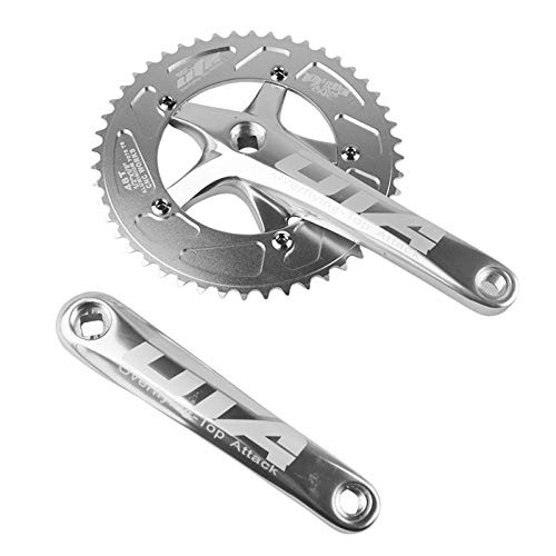 SENQI Bicycle Chain Wheel Fixed Gear 48T Aluminum Alloy CNC Cycling Racing Bike Accessories with Crank