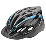 Louis Garneau Women's Saphir Cycling Helmet, Black/Blue, One-Size