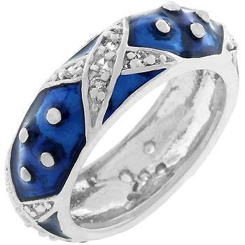 - Freedom Fashion Marbled Navy Blue Enamel Ring