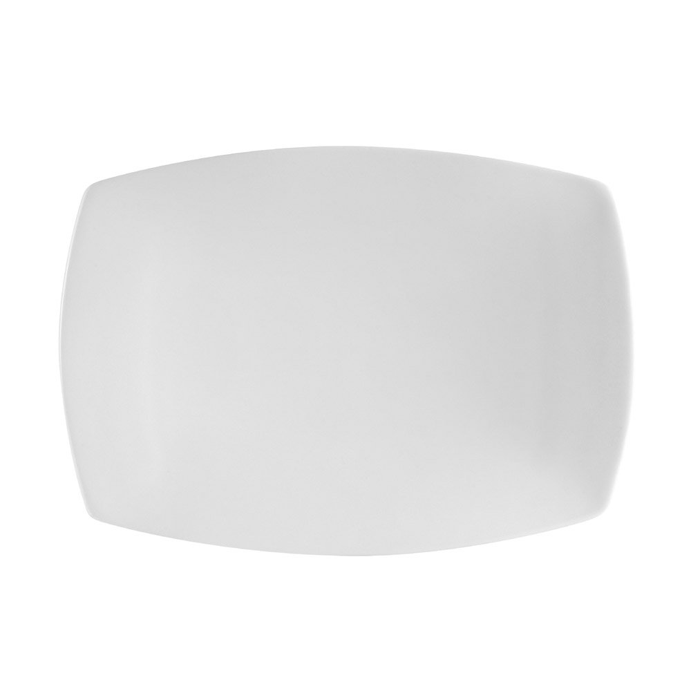 CAC China COP-RT14 Coupe Super White Porcelain Rectangular Platter, 13-1/4 by 9-1/4 by 7/8-Inch, 12-Pack