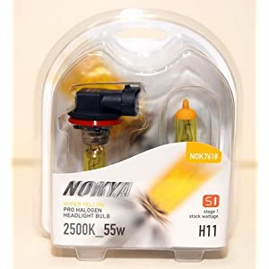 Nokya Hyper Yellow H11 Car Headlight Bulb (S1) NOK7618.
