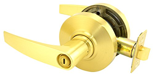 Schlage commercial AL40JUP606 AL Series Grade 2 Cylindrical Lock, Privacy Function, Jupiter Lever Design, Satin Brass Finish by Schlage Lock Company