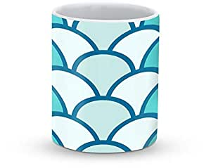 Stylizedd Mug 11oz Ceramic Mug Fish scales