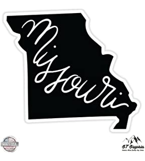 GT Graphics Missouri Pink State Shape Vinyl Sticker Waterproof Decal