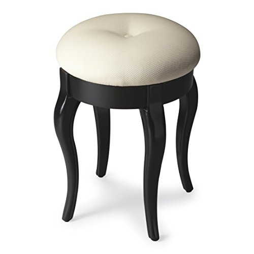 - Butler Simone Black Licorice Vanity Stool