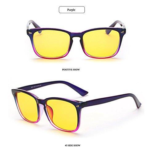 tensi¨®n trabajo Anti Proteger Anticansancio anti Hykis Glassess Gafas del azul Vidrios el la de Para juego ojo antideslumbrantes radios de Gafas p¨²rpura UV ordenador qTaxBfHq