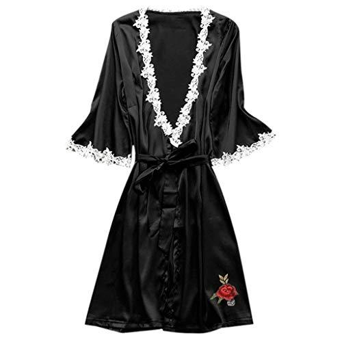 YKARITIANNA Women Super Hot Sexy Satin Silk Sleepwear Pajamas Nightdress Lingerie Night Dress