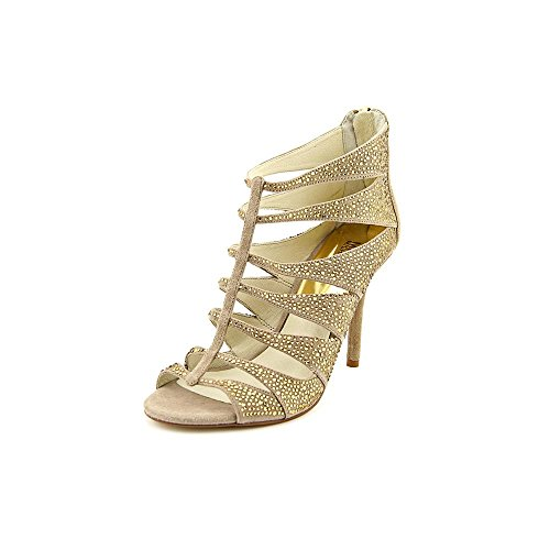 MICHAEL Michael Kors Womens Mavis Leather Open Toe Special, Beige, Size 9.0 by MICHAEL Michael Kors