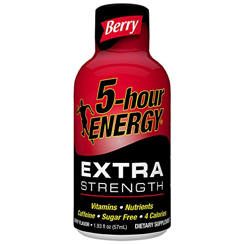 Extra Strength 5-hour ENERGY Shots – Berry Flavor – 12 Count