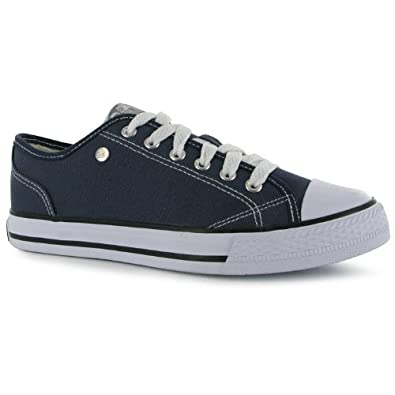 Amazon.com | Dunlop Womens Ladies Footwear Canvas Low Trainers Sneakers  Casual Shoes | Fashion Sneakers