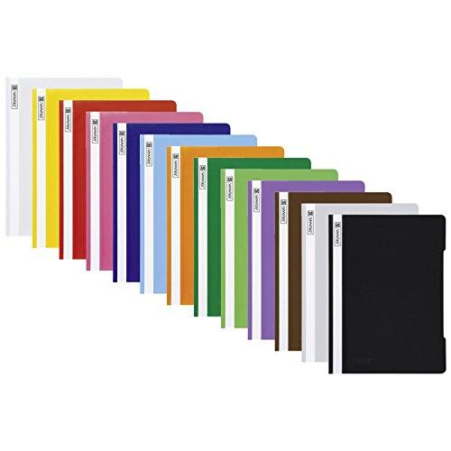 13 Schnellhefter Kunststoff Hefter aus PP Brunnen in 13 Farben