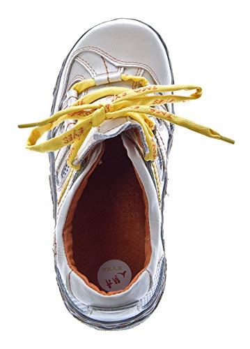 de cuero TMA cordones blanco Zapatos mujer blanco de para IwqrWqxO5z