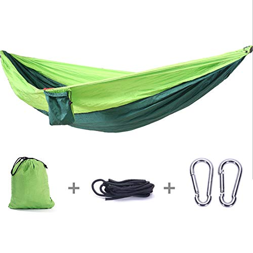 (HomVent Double Hammock, Lightweight Nylon Portable Hammock, Parachute Double Hammock for Backpacking, Camping, Travel, Beach, Yard)