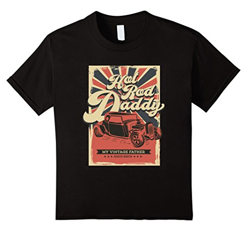 Kids Hot Rod Daddy Vintage tee T Shirt 8 (Youth Hot Rod)