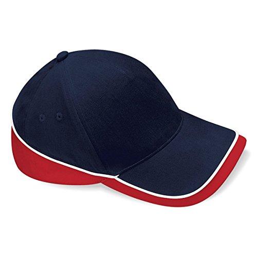 Azul Piscina Marino algodón 100 Verano Rojo Gorra Beechfield Visera Modelo Unisex Competition deportiva vx0pPna