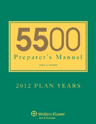 - 5500 Preparer's Manual for 2012 Plan Years