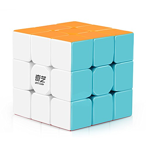 (D-FantiX Qiyi Warrior W 3x3 Speed Cube Stickerless 3x3x3 Magic Cube Puzzles )