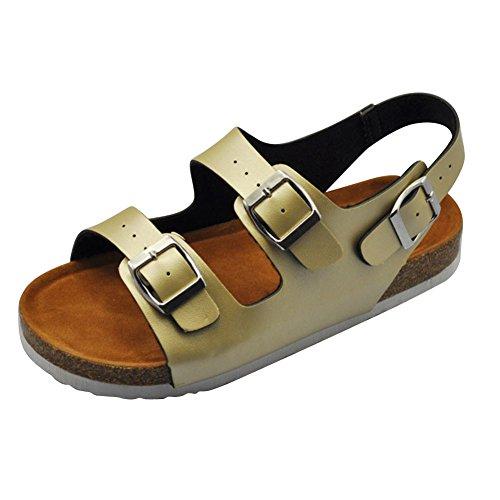 Piatto Alla Oro A Cinturino Con Caviglia Punta Sandali Spiaggia Aperta Estate Scarpe Donna rUzqvWarwn
