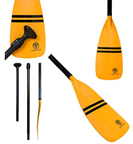 3 Piece Composite Carbon Adjustable Paddle - Stand Up Paddle Board Paddle by HAWK SUP