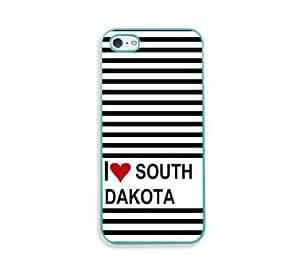 Love Heart South Dakota Aqua Silicon Bumper iPhone 5 & 5S Case - Fits iPhone 5 & 5S