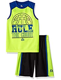 "RBX Little Boys' ""Rule the Court"" 2-Piece Outfit"