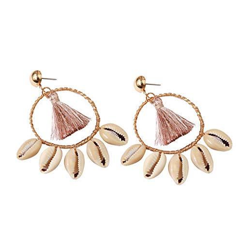 Cathy Clara Bohemian Ethnic Style Creative Golden Silk Tassel Metal Earrings Ladies Jewelry Creative Earrings for Women Sterling Hoop Earrings