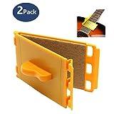 Guitar String Cleaner -(2 Pack) Design Better Than Microfiber for Guitar Bass Ukulele Mandolin Violin and Other String Instruments.(MA-48 Orange)