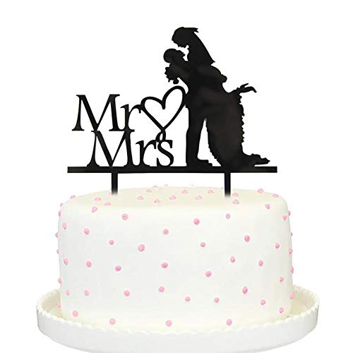 Party Diy Decorations - Cake Per Romantic Mr Love Mrs Decor Decoration - Party Decorations Party Decorations Chick Easter Panda Topper Couple Decoupage Rose Birthday Event Bride Groom Cake Wedd